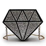 Boji Bolso bandolera con lentejuelas en forma de diamante de piel sintética de poliuretano