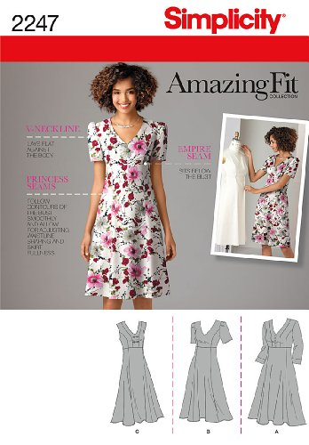 Simplicity Schnittmuster 2247 AA für Damenkleider, Gr. 40-48