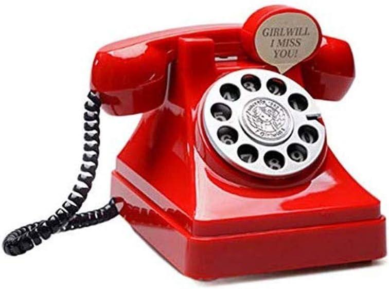 WSZJJ Vintage Telephone Piggy Bank Saving Albuquerque Price reduction Mall Kids Prop Unique Pot -