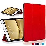 Forefront Cases® Huawei MediaPad T2 7.0 Pro / M2 7.0 Hülle Schutzhülle Tasche Smart Case Cover Stand - Ultra Dünn mit R&um-Geräteschutz & intelligente Auto Schlaf/Wach Funktion (ROT)