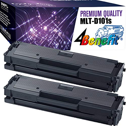 4Benefit Compatible Toner Cartridge Replacement for Samsung MLT-D101S ML-2165W SF-760P SCX-3405FW ( Black , 2 pk )