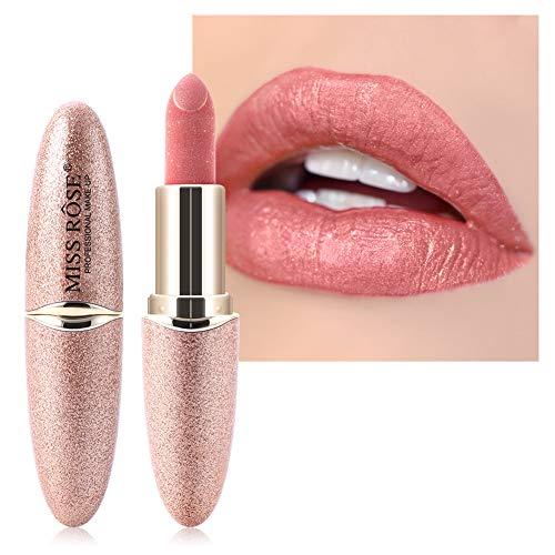 Wasserfeste Lippenstifte, perlmuttfarbener Lippenstift, Feuchtigkeitscreme für glatte Lippen, lang anhaltende Lippenstifte. Die Textur ist glänzend, leicht und feucht (#6)