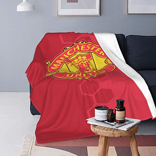 Manchester United - Colcha para sofá cama, manta de forro polar, abrazar y cómodo