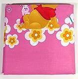Caleffi - Juego de sábanas para cama individual (160 x 280 cm), diseño de Winnie the Pooh, color rosa
