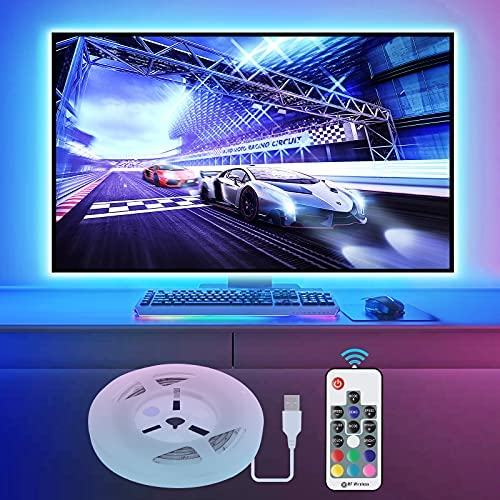 LED Strip Lights with Remote 2M, LED TV Backlight 6.6ft for 40-60 Inch HDTV, RGB USB Powered Led Lights for Bedroom Decor Home Accessories Pc Monitor Theater Screen [Energy Class A+]