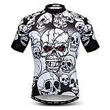 weimostar Cráneo de estilo de los Hombres Camisetas de Ciclismo de Alta Elasticidad, Super Transpirable Camisetas de Bicicleta de Verano de la Ropa de Montar de Secado Rápido