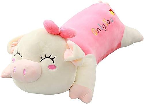 Unbekannt Stoffspielzeug Plüschtiere Tierpuppen Long Bars Schlafkissen Kinderpuppen mädchen Geburtstagsgeschenke (Farbe   Rosa, Größe   120cm)