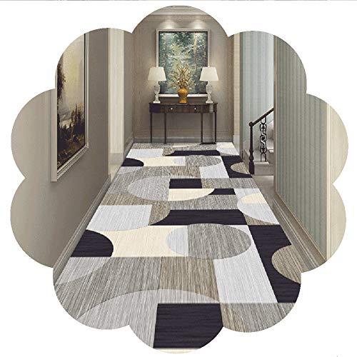 RYHON6 - Alfombra para corredores de pasillo (tamaño pequeño, grande, suave, gruesa), diseño de pasillo largo, para guardería, oficina, 1/2/3/4/5 m de largo RYH (tamaño: 0,6 x 4 m)