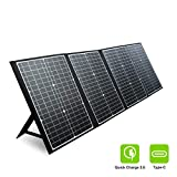 PAXCESS 120W Portable Solar Panel for Jackery Solar Generator/Rockpals Power Station/Goal Zero Yeti with USB QC 3.0, Typc C Output, Off Grid Solar Charger for Camping Travel Emergency Backup CPAP