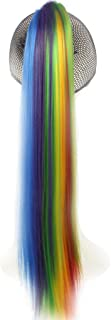 WeKen Hair Ponytail Long Straight Claw in Synthetic Rainbow