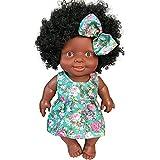 Modonghua - Muñeca africana de 10 pulgadas, muñeca negra para niños, juguete de moda, juegos interac...