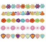 XUNHUI Parches de encaje de flores para bordar ropa, coser en vestidos de novia, decoración, accesorios de bricolaje, encaje recortado, 5 piezas