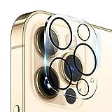 QULLOO Protector de Lente de cámara para iPhone 12 Pro MAX, [9H Dureza] [Anti-Rasguños] Cristal...