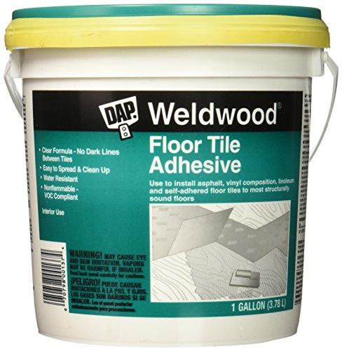 DAP 7079800137 Floor Tile Adhesive Gal Raw Building Material, 1 gal, Clear