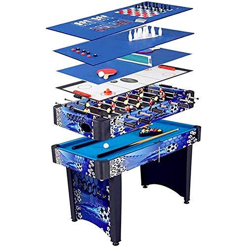 SYCHONG Fußball Hockey Hockey Billardtisch, Slide Hockey, 10 in 1 Multifunktionstisch, Tischfußball Combo Arcade-Spieltisch, Heimspielzeug, Party-Büro-Spielzeug