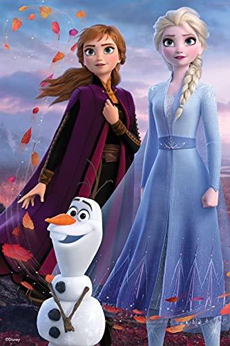 Prime 3D Puzzle lenticolare Disney Frozen Elsa, Anna e Olaf, 200 pezzi, Multicolore, 33030