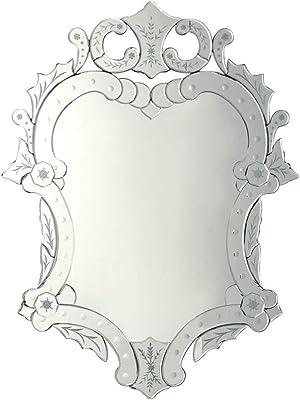 Amazon.com: Baxton Studio Colina Decorative Wall Mirror in ...
