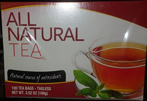 Greenbrier International All Natural Tea, 100 Tagless Tea Bags- 100% Pure Ceylon Black Tea