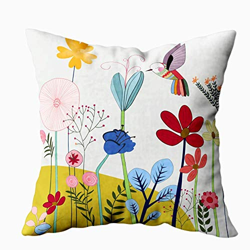 Colorful Throw Pillows Covers 16 X 16 Inch12.8 Flower Garden and Body Easter Day throw pillow cover olive Soft and Cozy for Farmhouse Home Living Room Bedroom Bench adults Sofa girls toddler-boys