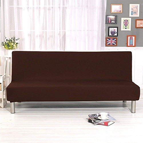 Jian Ya Na - Funda plegable para sofá cama, color liso, sin brazos, tela elástica de poliéster