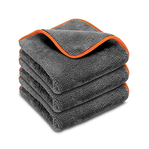POLYCLEAN 3X Buffa® Autotuch - Flauschiges Poliertuch für schonende Lackpflege - ultraweiches...