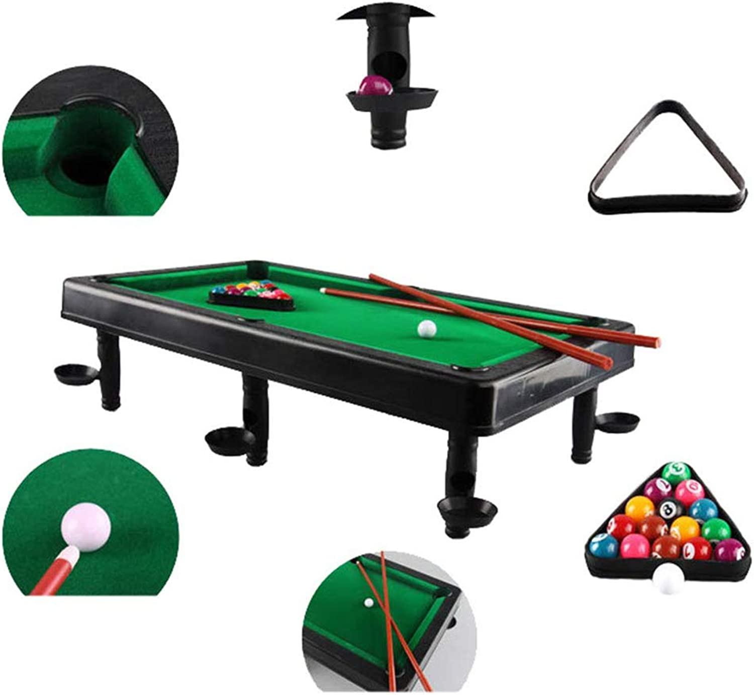 NBZH Min Billiards– the classic pool table set Kids Indoor Toy Sports Game With Balls And Other Accessories