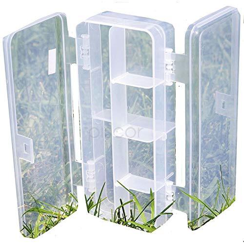 Lineaeffe Boîte Poly 4 18 x 8 x 4.5 cm Boîte de Pêche Rangement Accessoire Leurre Hameçon Compartiment Plastique