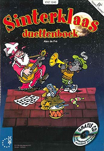 Fre-Sinterklaas Duettenboek Bes-Clarinet, Saxophone, Trumpet, Trombone en Piano-BOOK+CD
