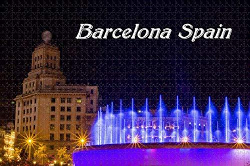 España Cataluña Plaza Barcelona rompecabezas para adultos 1000 piezas rompecabezas de madera 3d para adultos