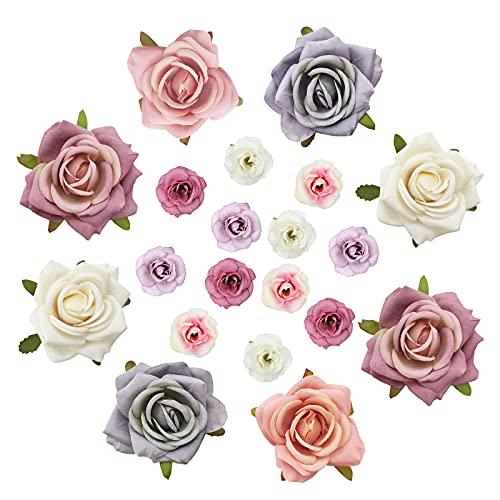 Künstliche Blumenköpfe, Rose Silk...