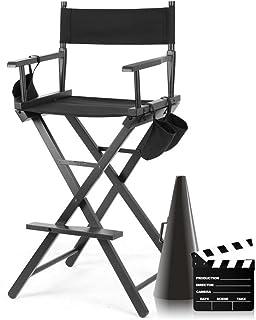 Silla Director Alta, Silla Maquillaje Profesional, Silla de Director Plegable de Madera, Silla del Director de Cine, Silla de Trabajo Ligera Robusto Durable