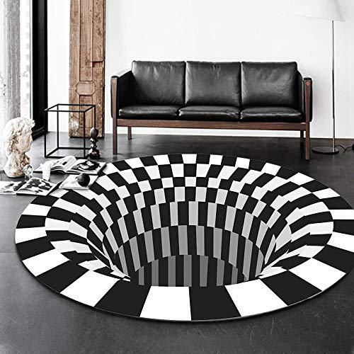 Yumanluo Alfombra mullida,Alfombra Redonda 3D Visual, Libro de Sala de Estar-Hide_Diameter: 160cm,Adecuado para salón Dormitorio baño sofá Silla cojín