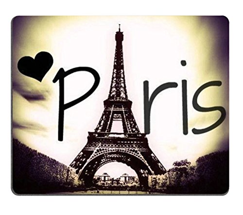 Eiffel Tower Love Paris Rectangle Mouse Pad,Gaming Mouse Pad
