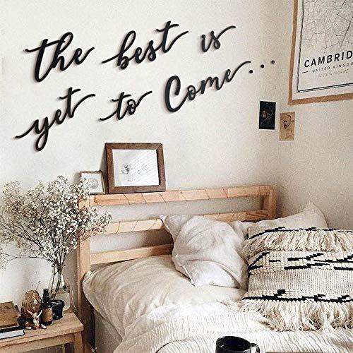 Hoagard Metal Wall Quote | The Best Is Todavía For Come| Arte de pared 6 piezas | Decoración de pared de metal para colgar en su casa y oficina | Arte de pared | Última tendencia interior |