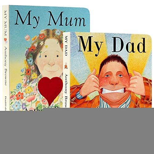 VODVO Divertidos Educativo inglés Picture cartón Libros for Niños Estimado Zoo yo Soy un Conejito La Oruga Muy hambrienta Juguete de Aprendizaje (Color : My Mum my Dad)