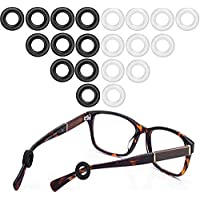 10-Pairs Molderp Anti-Slip Glasses Retainers (Black/Clear)