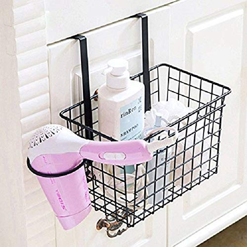 Over Door Storage Basket with Hair Dryer Holder Drawer Cupboard Cabinet Hanging Spice Rack Kitchen Accessories - Random Color