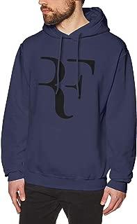 Mens Hooded Sweatshirt Roger Federer Personality Street Trend Creation Navy