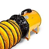 "neverest PAF 12"" Portable Utility Blower Fan Ventilator with 16 ft Duct Hose 2300 cfm 3300 RPM 373 pa"