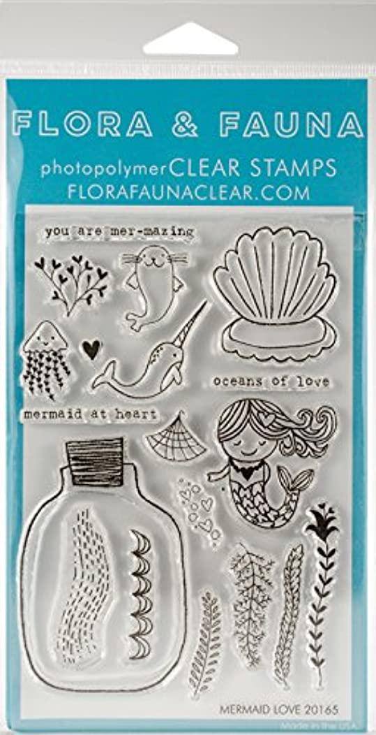 Flora & Fauna Mermaid Love Clear Stamps 4