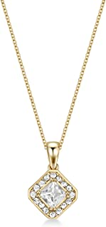 Mestige Women Glass Gold Thea Necklace with Swarovski Crystals
