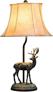Nightstand Table Lamp Retro Table Lamp Creative Romantic Elk Shape Bedside Table Lamp, Suitable for Bedroom/Living Room/Study (Color : B)