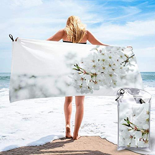 Unique Life Cherry Blossoms in Full Bloom toalla de baño, toalla de gimnasio, toalla de playa, microfibra suave de secado rápido, ligero