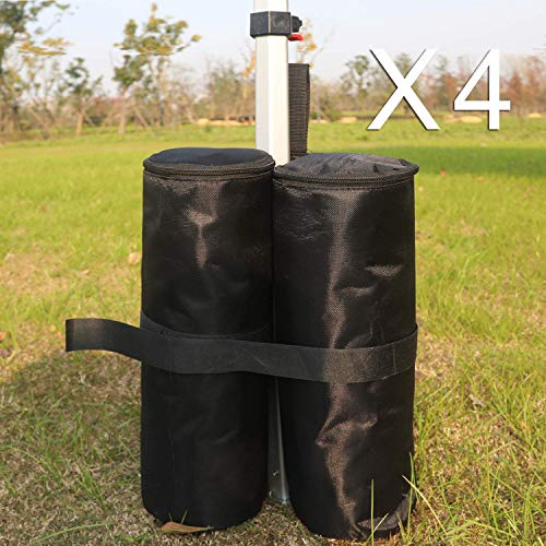 ABCCANOPY Bolsas de peso para cenador plegable para carpa, bolsas de arena para refugio al aire libre instantáneo, patas de carpa de carpa (4 unidades)