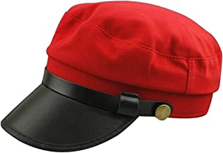 JAUROUXIYUJI New Fashion Korean Version of Cotton Spring and Autumn Japanese Student Youth Hat Beret Cap British Retro Hat Men and Women Models Beret (Color : Red, Size : 56-58CM)
