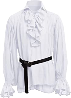 Mens Medieval Renaissance Shirt Viking Pirate Shirts Adult Steampunk Cosplay Costume