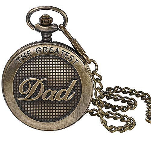 LANCARDO Taschenuhr Vintage Herren Damen Uhr Analog mit Kette Weihnachten Geschenk LCD100897-de
