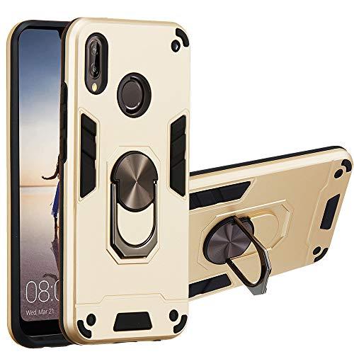 JZ [2 em 1] [Anel de rotação de 360 graus] Capa protetora para celular com suporte para Huawei P20 Lite/Nova 3e - Ouro