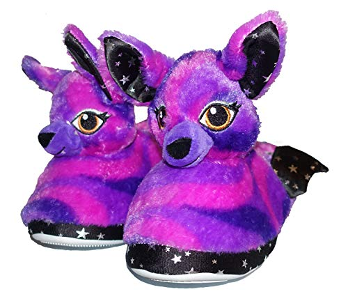 Build a Bear Assorted Kids Cute Slip-On Slippers (Small 10-11, Starry Knight Bat Purple)