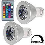 MENGS 2 Stück 3W RGB LED Reflektorlampe GU10 LED Farbige